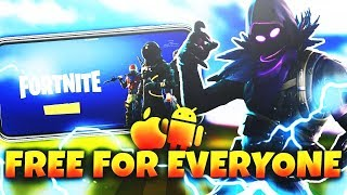 FORTNITE MOBILE IS OPEN to EVERYONE! NO CODE NEEDED - (Fortnite Mobile)