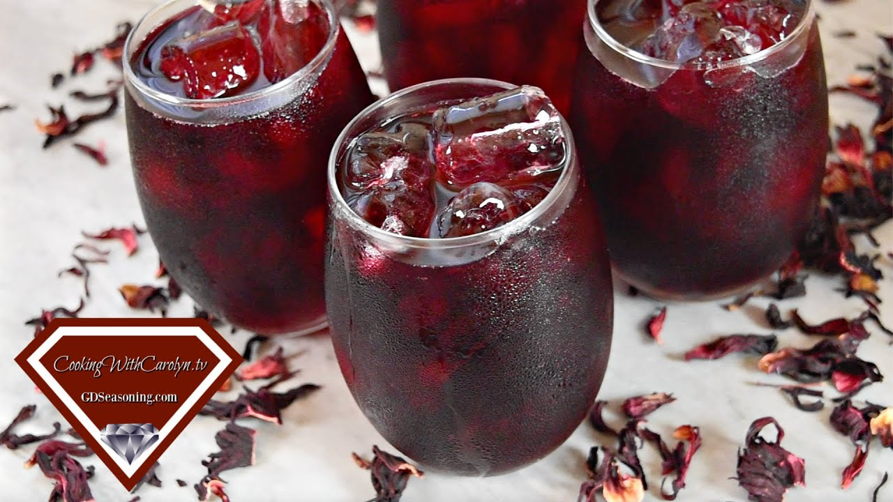 How to Make Hibiscus Iced Tea   How to Make Jamaica  Cooking With Carolyn