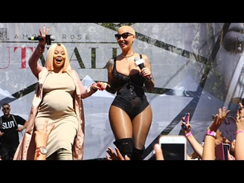 Amber Rose And Pregnant Blac Chyna Show Up For SlutWalk