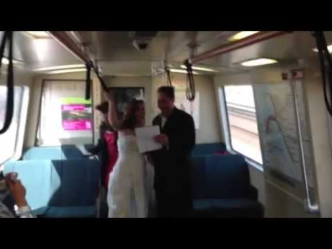 The Sana G Morning Show - Bay Area Couple Takes BART to Wedding in Oakland w/ Entire Wedding Party!