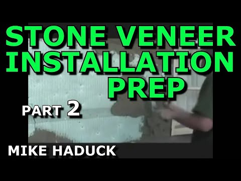 How I Install Stone Veneer part 2 of 4 Mike Haduck Preparing for stone installation  YouTube