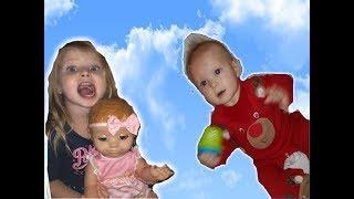 ЭЛЬВИРА И КУКЛЫ Игры в ПРЯТКИ Luvabella Doll Кукла БЕБИ БОРН Катя Игры для детей челлендж