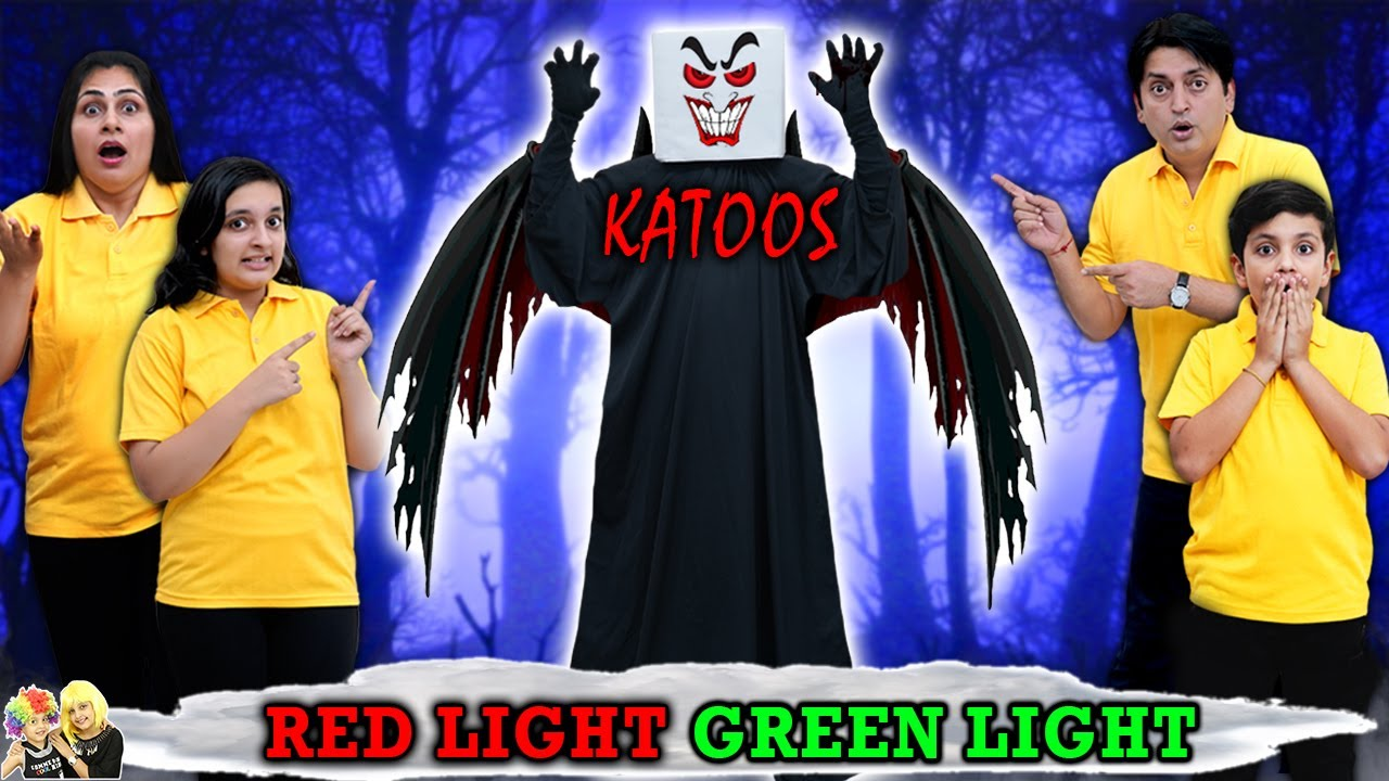 RED LIGHT GREEN LIGHT | KATOOS - Halloween Special | Horror Family Challenge | Aayu and Pihu Show