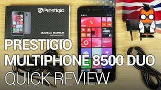 Prestigio MultiPhone 8500 DUO Windows Phone quick review & unboxing [ENGLISH]