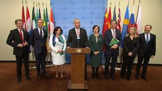 EU8 on non-proliferation / Iran - Security Council Media Stakeout (12 December 2018)