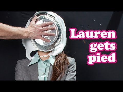 Lauren is pied in the face
