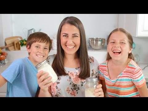 Homemade Mason Jar Butter with The Kids