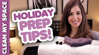 5 Time Saving Holiday Prep Tips! Quick & Easy Ways How to Prepare for the Holidays (Clean My Space) Thumbnail