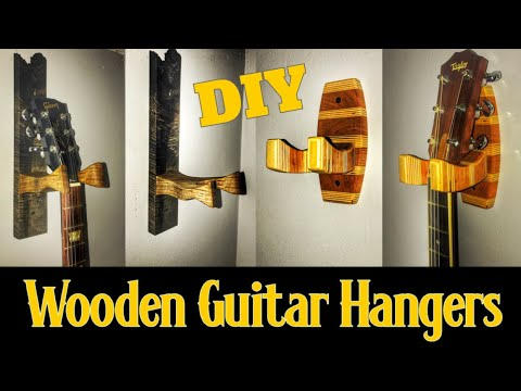 How to Make Custom Guitar Hangers Out of Wood | Diy Woodworking Project