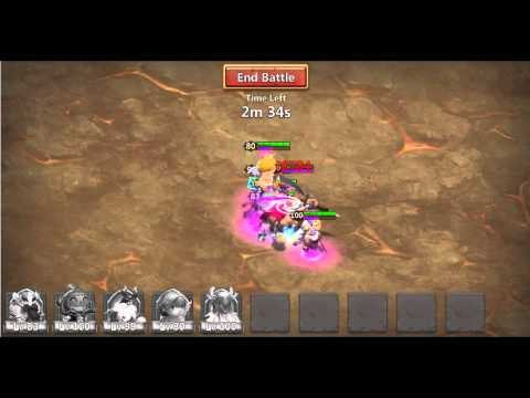 Castle Clash Solo Boss 1 Without Tanker! Constant Stun With Cupid!
