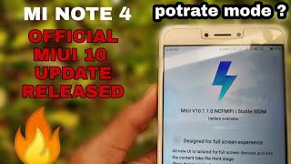 Redmi Note 4 Stable MIUI 10.1.1.0 official Update  | Potrait mode & Gestures 🔥🔥