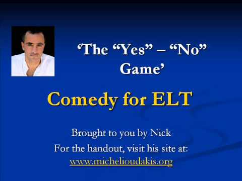 """Comedy For Elt  The """"yesno"""" Game  Youtube"""