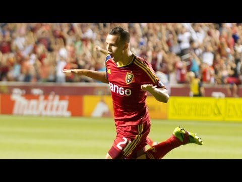 GOAL: Luis Gil cuts back and finishes inside the box   Real Salt Lake vs Columbus Crew
