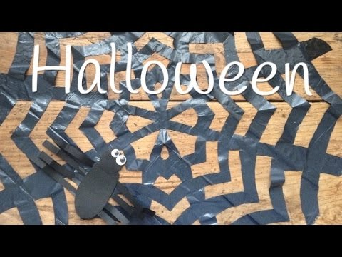 Tela de araña para Halloween