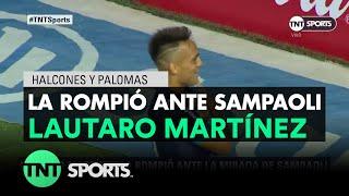 Lautaro Martínez la rompió ante la mirada de Sampaoli