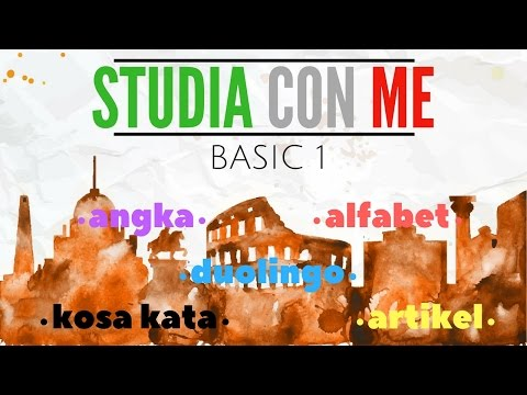 BELAJAR BAHASA ITALIA | DUOLINGO BASIC 1 // STUDIA CON ME #1