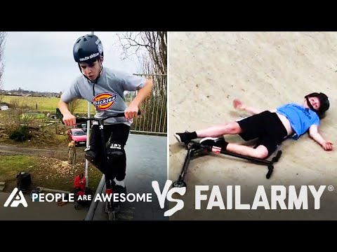 Rooftop Scooter & Other Dangerous Wins Vs. Fails | People Are Awesome Vs. FailArmy