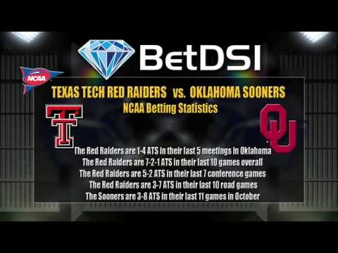 Texas Tech Red Raiders Vs Oklahoma Sooners Odds | NCAAF Free Picks