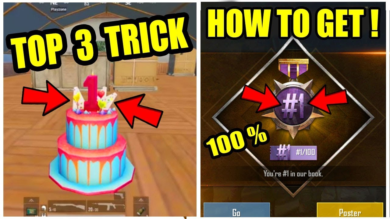 How To Get 1 100 Title In Pubg Mobile Top 3 Places Where We Can