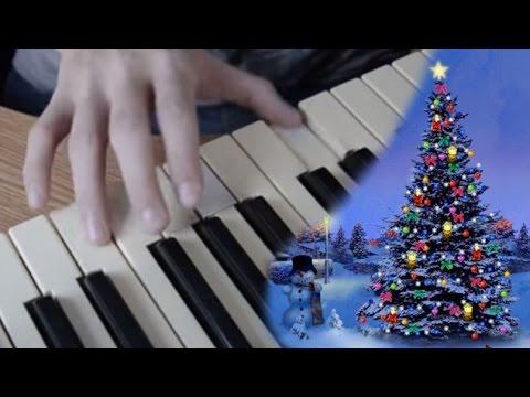 """Как играть """"В лесу родилась елочка"""" на пианино - YouTube"""