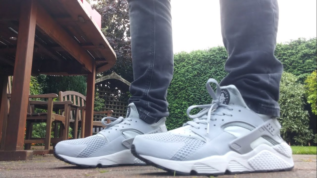 nike huarache grey mens
