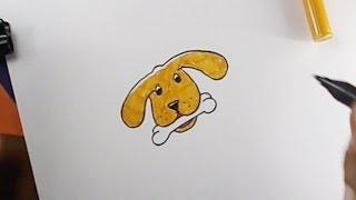 Karikatür Köpek yüz çizmek için nasıl