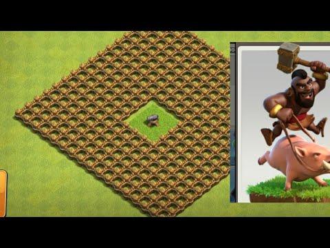 Look how will hog rider jump across walls {micro clash}