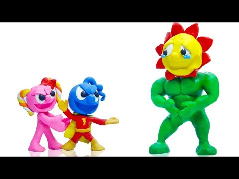 CLAY MIXER SHAZAM SUPERHERO PRETEND 💖 Play Doh Stop Motion Cartoons