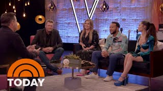 Ariana Grande, Kelly Clarkson, John Legend, Blake Shelton Talk Return Of 'The Voice'