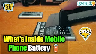 Inside View : Mobile Phone Battery 🔋 || What
