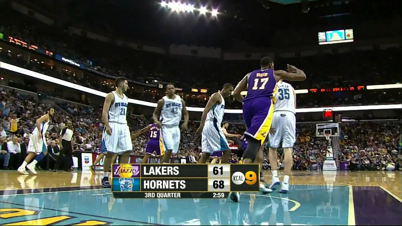 03 14 2012   Lakers vs  Hornets   Team Highlights