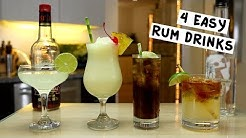 Four Easy Rum Drinks