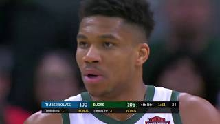 Milwaukee Bucks vs Minnesota Timberwolves | January 1, 2020