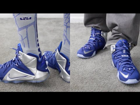 size 40 43c98 dd99e ... best price lebron 12 cowboys on feet view what if lebron xii deep royal  youtube 47822