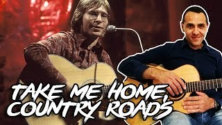 Take Me Home, Country Roads - Easy Guitar Lesson - John Denver