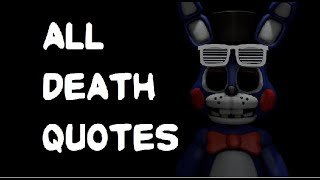 All Six Nights at Zany Club Death Quotes