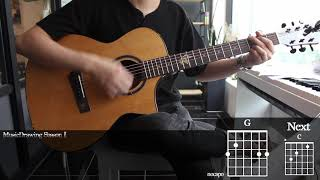 Piano Man - Billy Joel Guitar Cover Playing by [Musicdrawing]