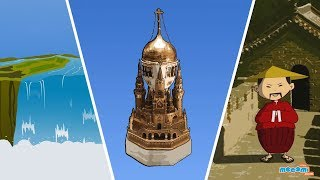 11 Amazing Places Around The World - Fun Facts for Kids | Educational Videos by Mocomi