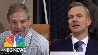 Schiff Tells Jordan: 'You May Not Like The Witnesses' Answer But We Will Hear It' | NBC News