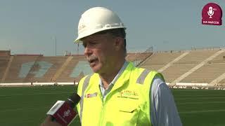 Tema: Avances de la remodelación del Estadio de San Marcos