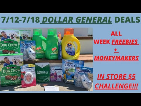 💃7/12-7/18 Dollar General Deals You Can Do NOW | Dollar General Best Deals | $5 Challenge + BONUS