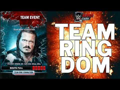 TBG Rewards & Rhyno Team Ring Dom - WWE SuperCard Season 3