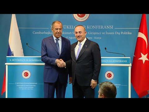 يورو نيوز:وزير خارجية تركيا يلتقي نظيره الروسي.. تنددٌ بالعقوبات الأمريكية وسعيٌّ لحل بشأن إدلب …