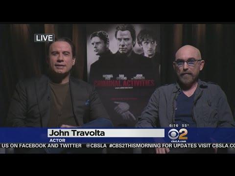 John Travolta, Jackie Earle Haley Discuss 'Criminal Activities' Film
