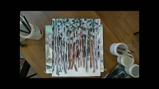 Видеоурок - рисуем зимний пейзаж (Орловка)