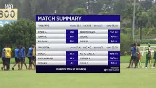 ICC CRICKET WORLD CUP CHALLENGE LEAGUE A  MALAYSIA vs VANUATU