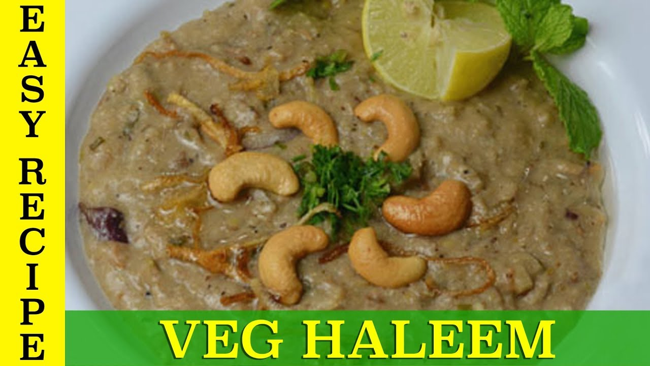 Homemade Hyderabadi Veg Haleem - Soya Haleem | वेज हलीम - सोया हलीम