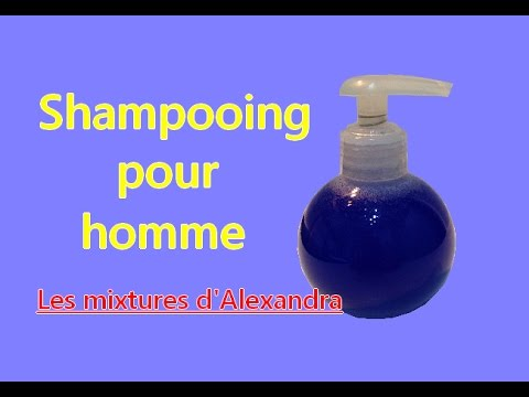 Shampooing pour homme facile à réaliser