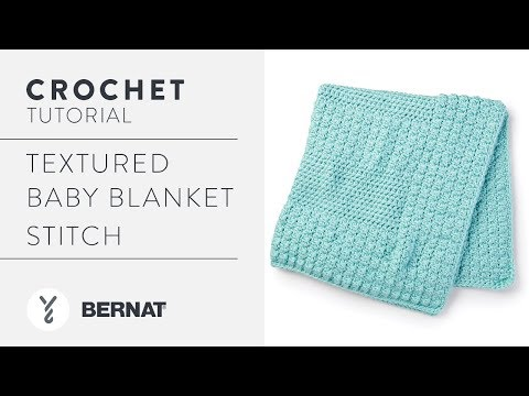 Crochet A Baby Blanket With DC2TOG Cluster Stitch | By Daisy Farm Crafts