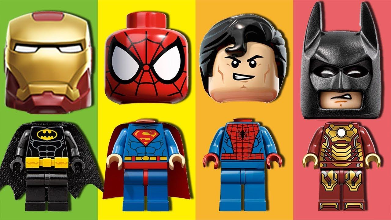 Wrong heads superman batman spiderman ironman lego - Spiderman batman lego ...